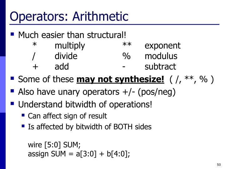 Operators: Arithmetic