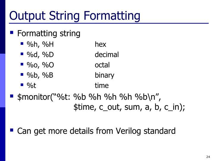 Output String Formatting