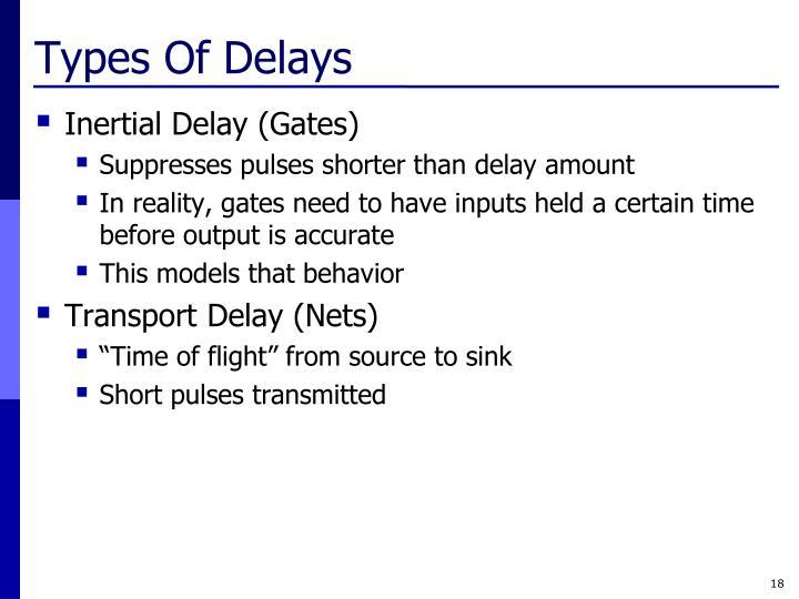 Types Of Delays