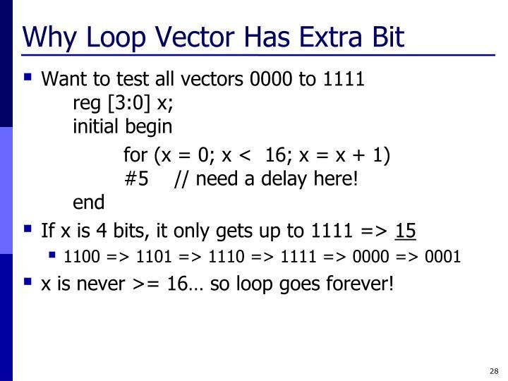Why Loop Vector Has Extra Bit
