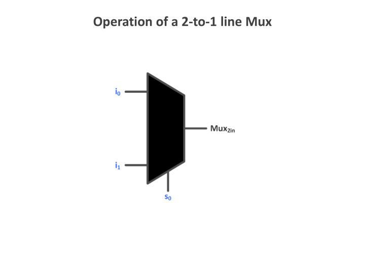 Operation of a 2-to-1 line Mux
