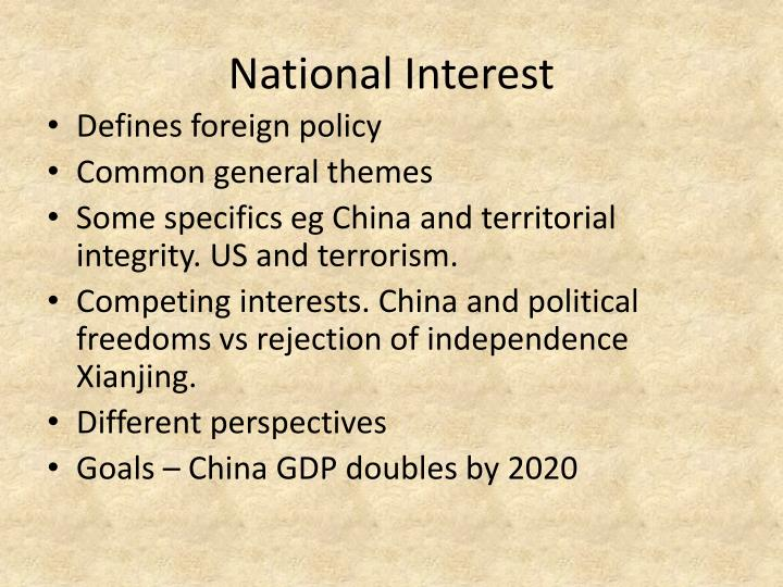 National Interest