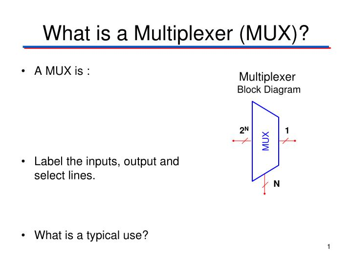 What is a multiplexer mux