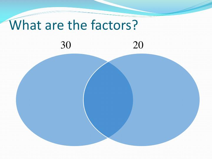 what are the factors
