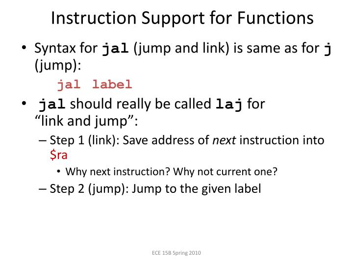 Instruction Support for
