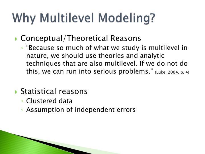 Why Multilevel Modeling?