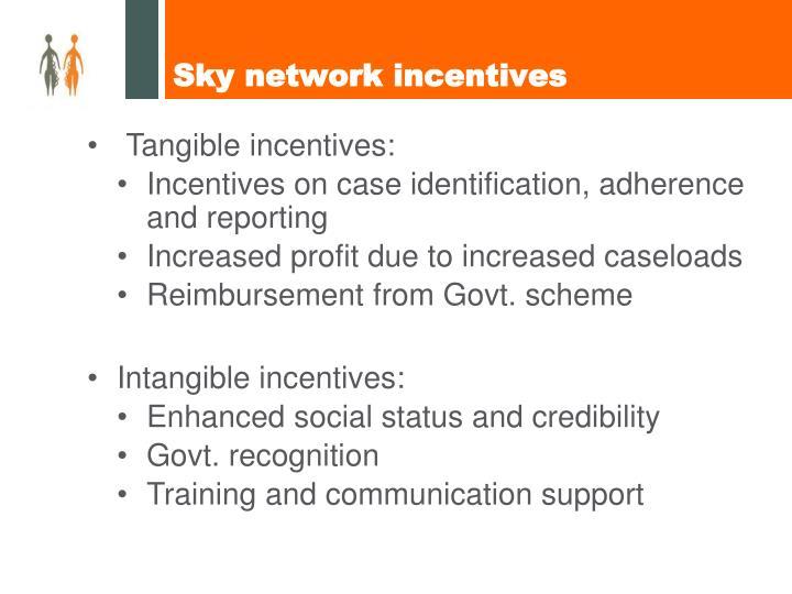 Sky network incentives