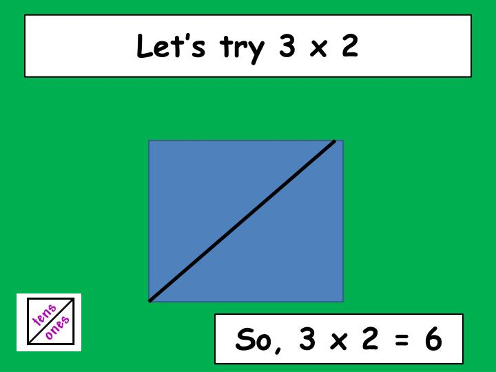 Let's try 3 x 2