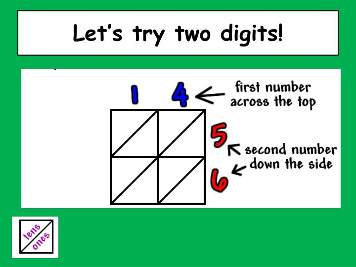 Let's try two digits!
