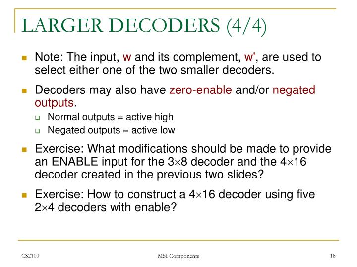 LARGER DECODERS (4/4)