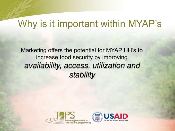 Why is it important within MYAP's