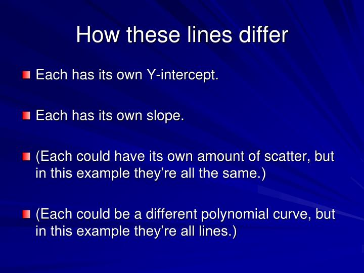 How these lines differ