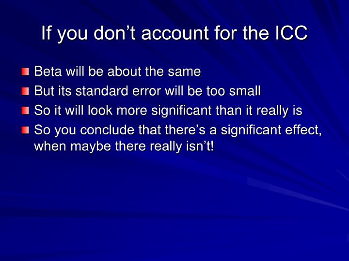 If you don't account for the ICC