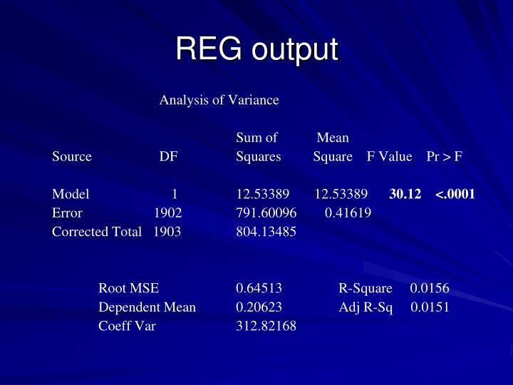 REG output