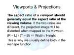viewports projections