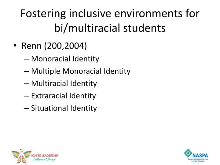Fostering inclusive environments for bi/multiracial students