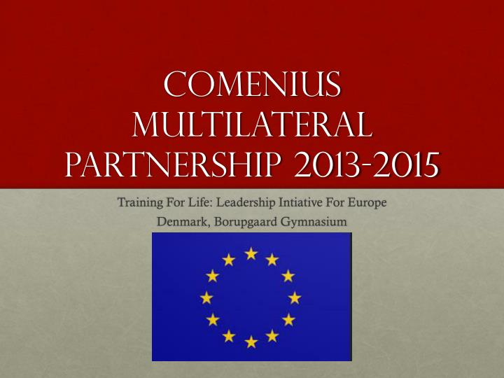 Comenius multilateral partnership 2013 2015