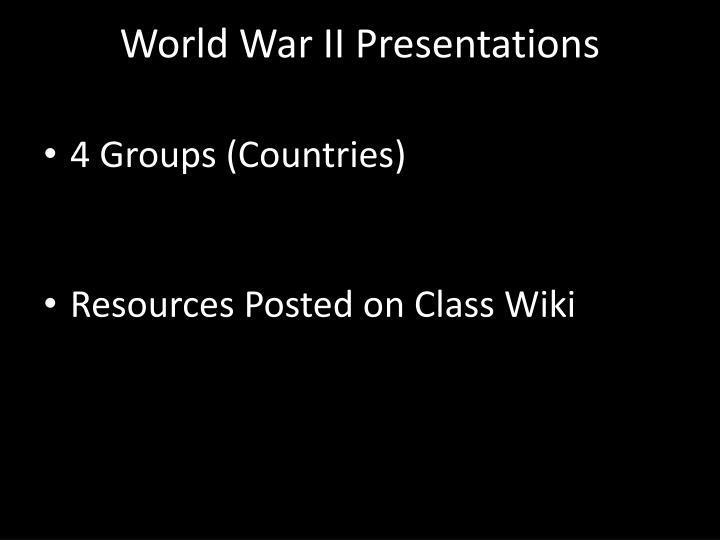 World War II Presentations