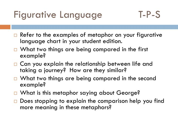 Figurative Language			T-P-S