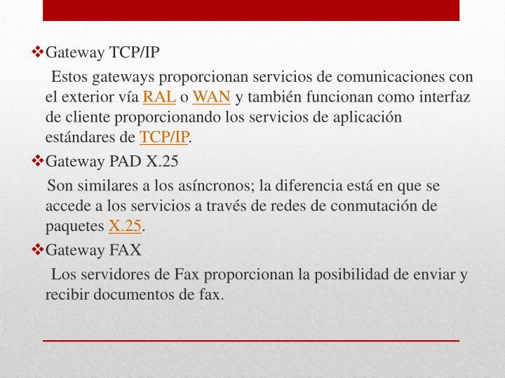 Gateway TCP/IP
