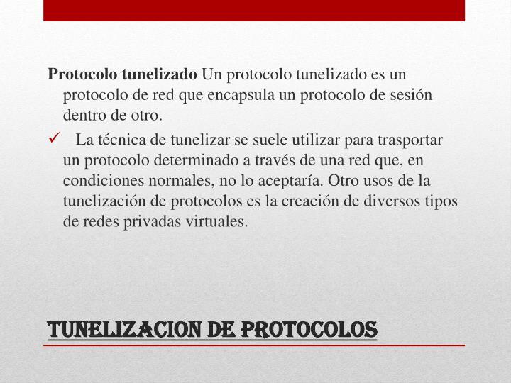Protocolo tunelizado