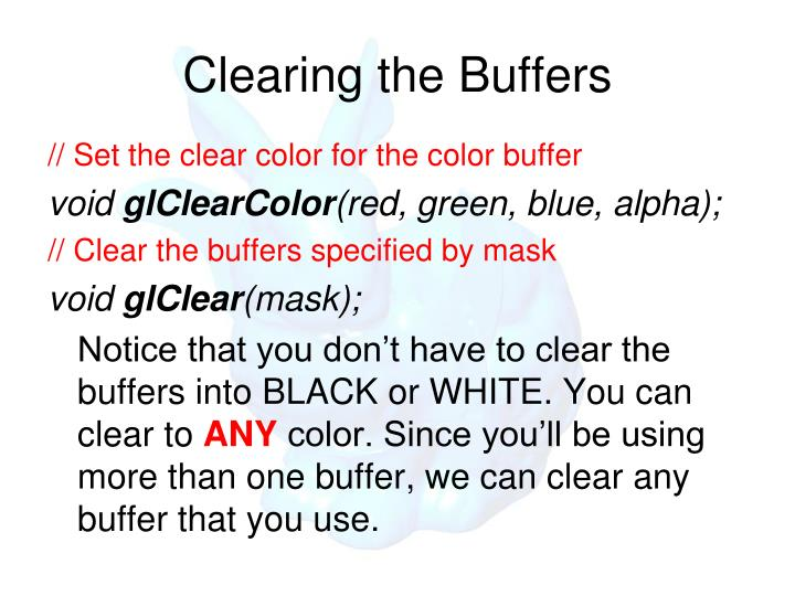 Clearing the Buffers
