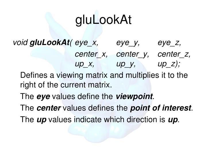 gluLookAt