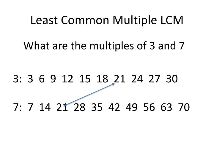 Least Common Multiple LCM