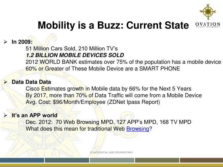 Mobility is a Buzz: Current State