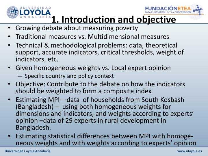 1. Introduction and objective