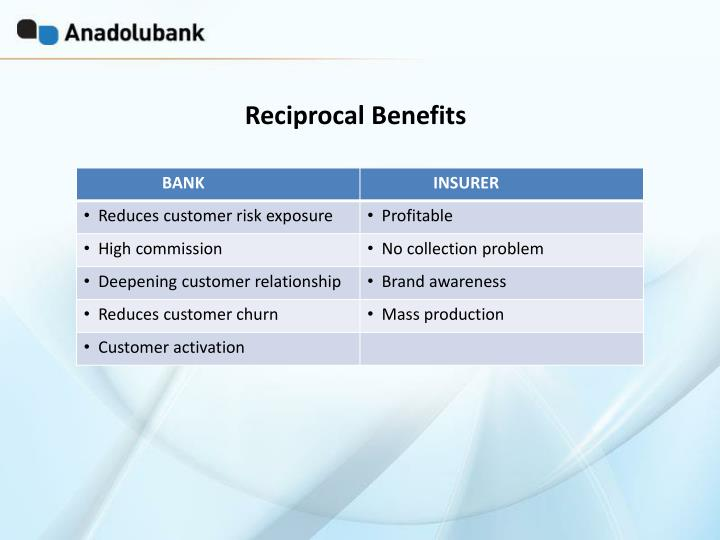 Reciprocal Benefits