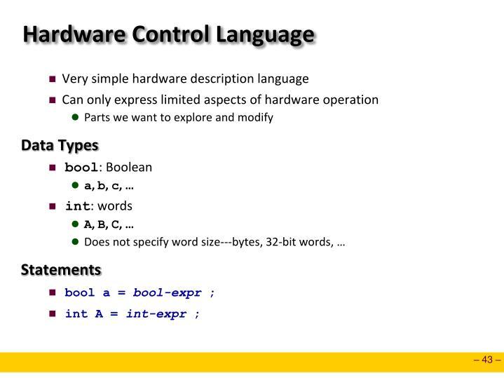 Hardware Control Language