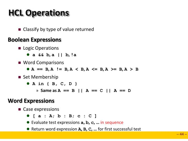 HCL Operations