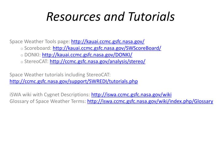 Resources and Tutorials