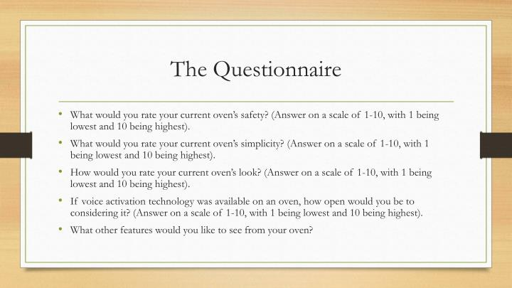 The Questionnaire