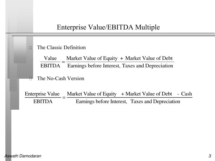 Enterprise Value/EBITDA Multiple