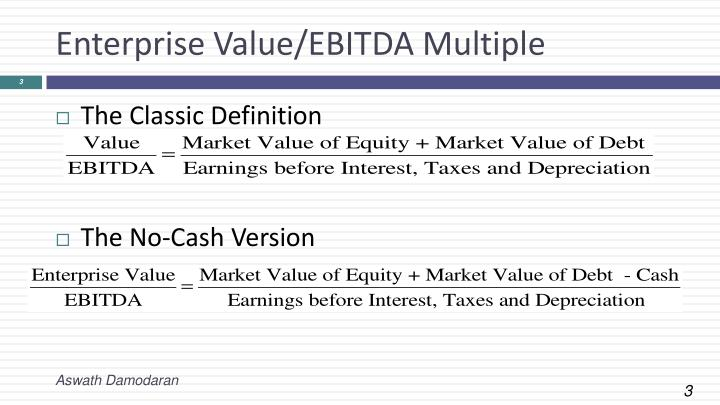 Enterprise value ebitda multiple