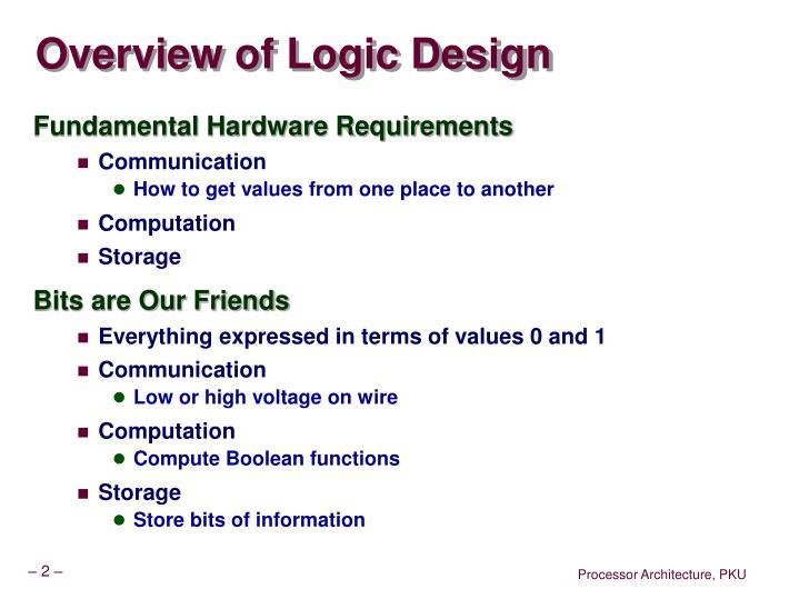 Overview of Logic Design