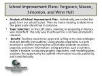 school improvement plans ferguson mason simonton and winn holt