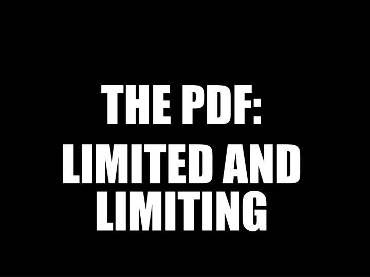 THE PDF: