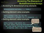 accessing the elements of multidimensional arrays