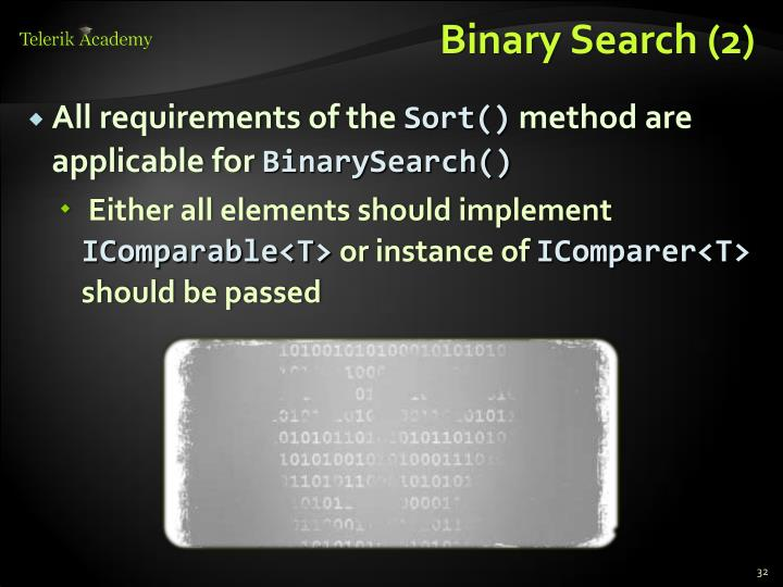 Binary Search (2)
