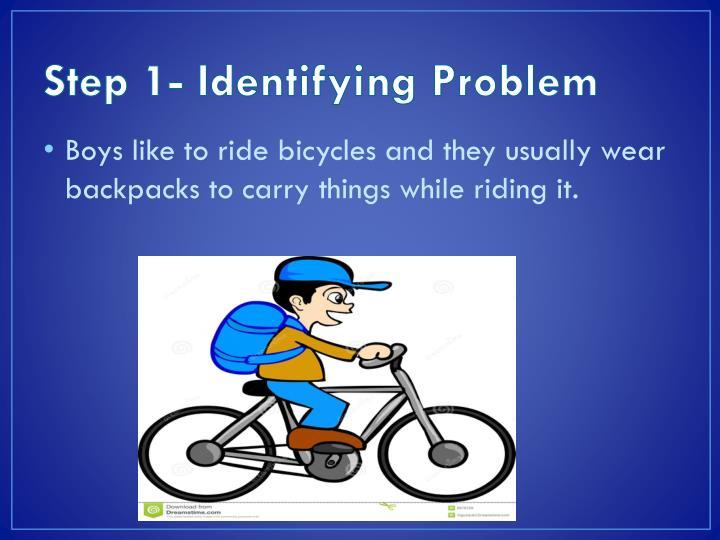 Step 1- Identifying Problem