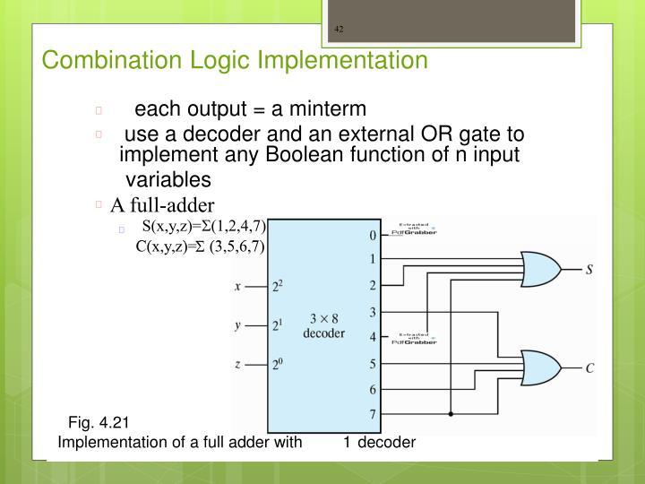 Combination Logic Implementation