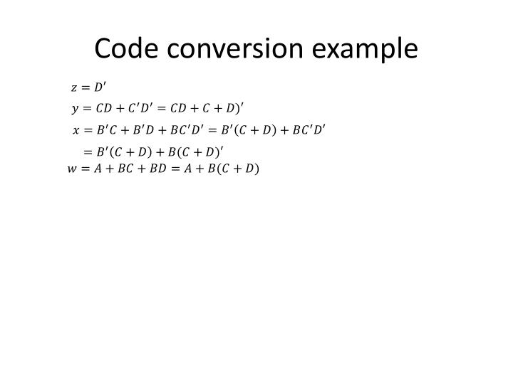 Code conversion example