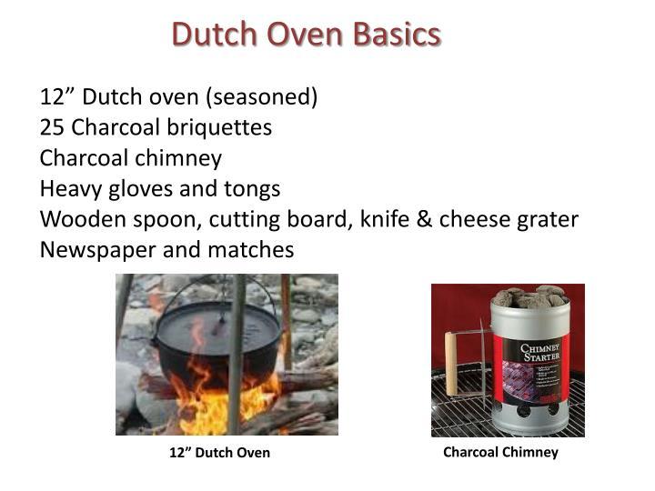 Dutch Oven Basics