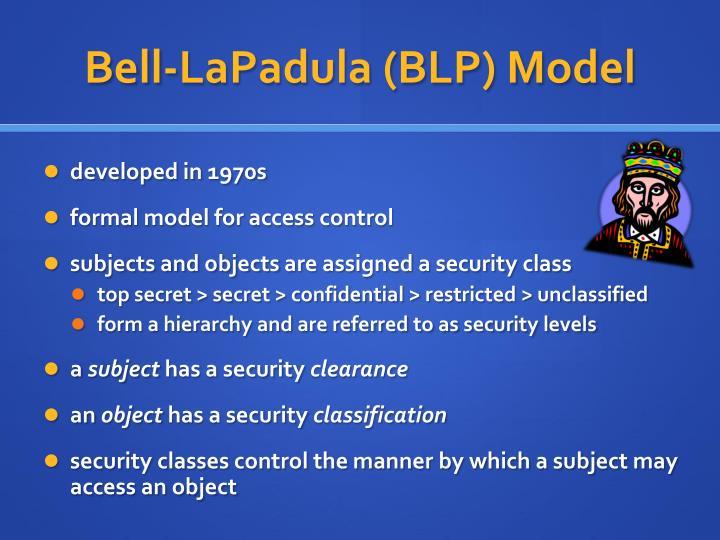 Bell-LaPadula (BLP) Model