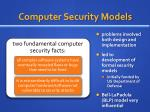computer security models