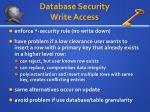 database security write access