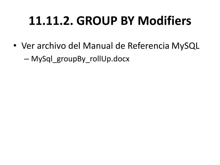 11.11.2.GROUP BY